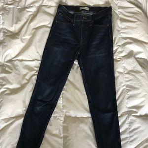 Madewell 9 inch Skinnies— Larkspur Wash